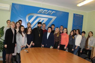 Встреча с руководителем Молодежного отдела Урюпинской и Новоаннинской епархии иерием Алексием Шамовым.