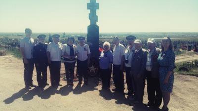 У Поклонного креста состоялась акция «Память» посвященная 73-ей годовщине Победы в Великой Отечественной войне