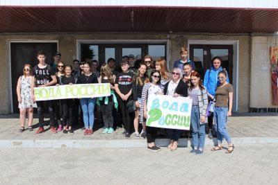 31 мая студенты Себряковского филиала ВолгГТУ приняли участие во Всероссийской экологической акции «Вода России»