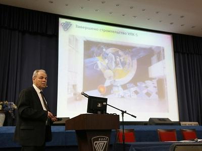 Расширенное заседание ученого совета, на котором ректор вуза академик РАН В.И. Лысак подвел итог своей работы за 5 лет