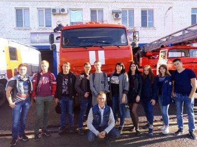 Экскурсия в пожарную часть №30