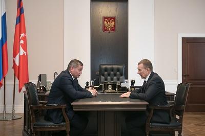 Андрей Бочаров провел рабочую встречу с Александром Степановым