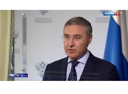 Министр науки и высшего образования РФ Валерий Фальков рассказал телеканалу «Россия 1» об образовании в условиях пандемии